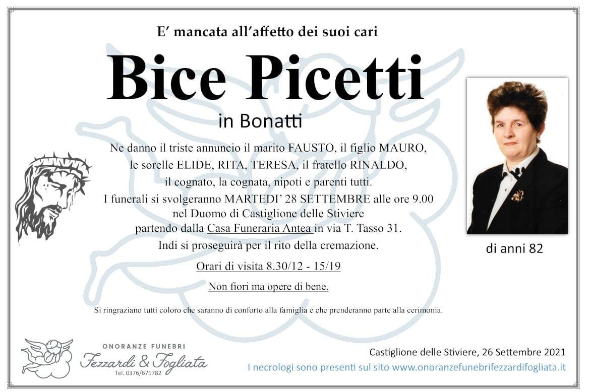 Necrologio Bice Picetti
