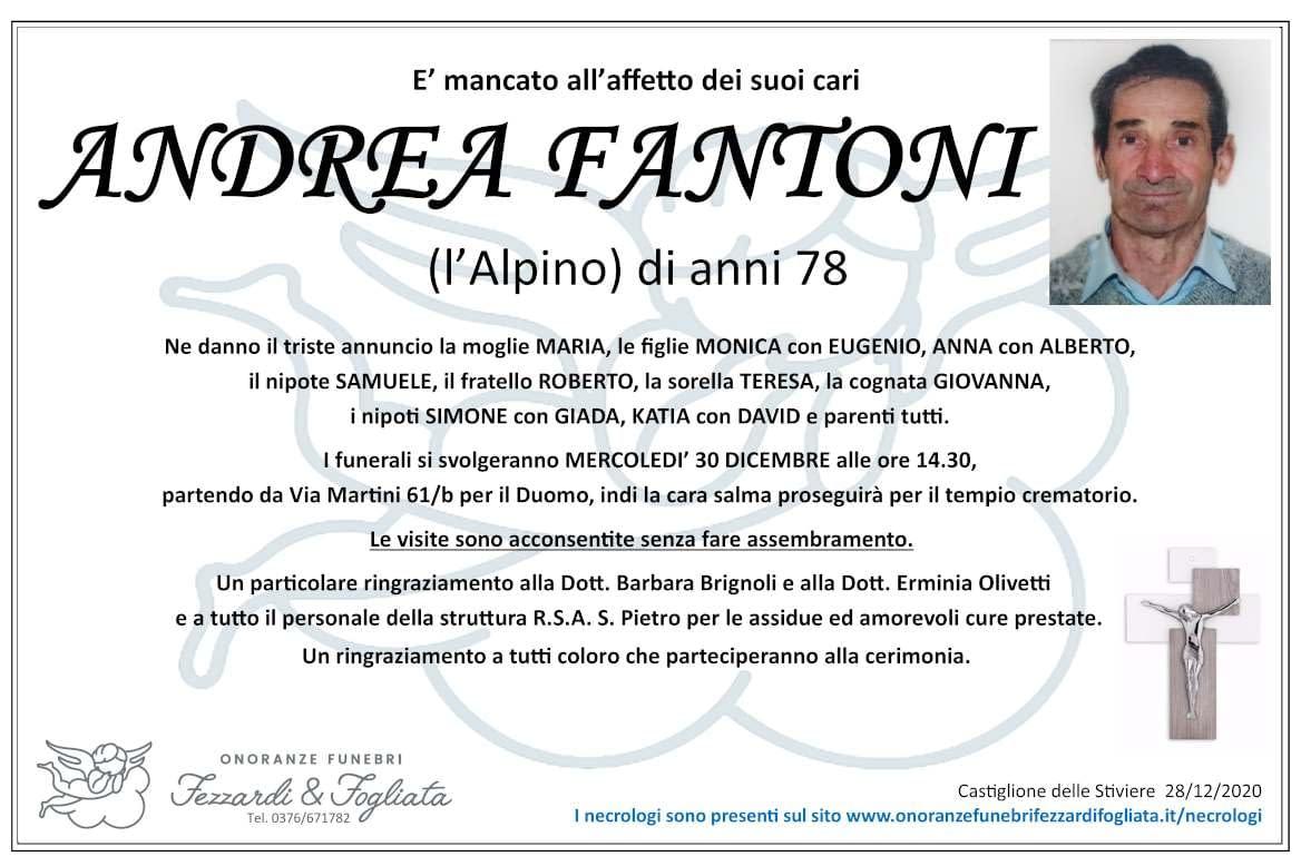 Necrologio Andrea Fantoni
