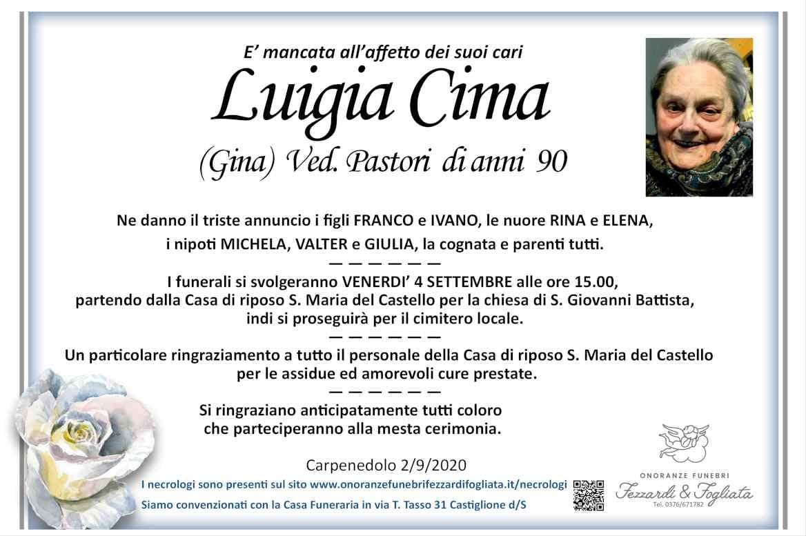 Necrologio Luigia Cima