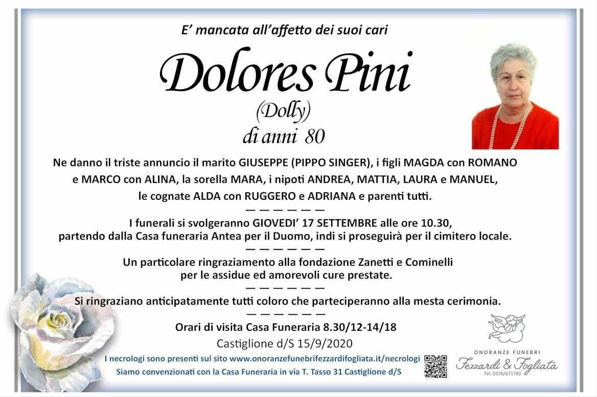 Necrologio Dolores Pini