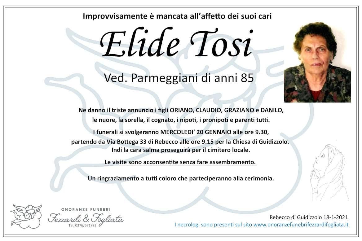 Necrologio Elide Tosi