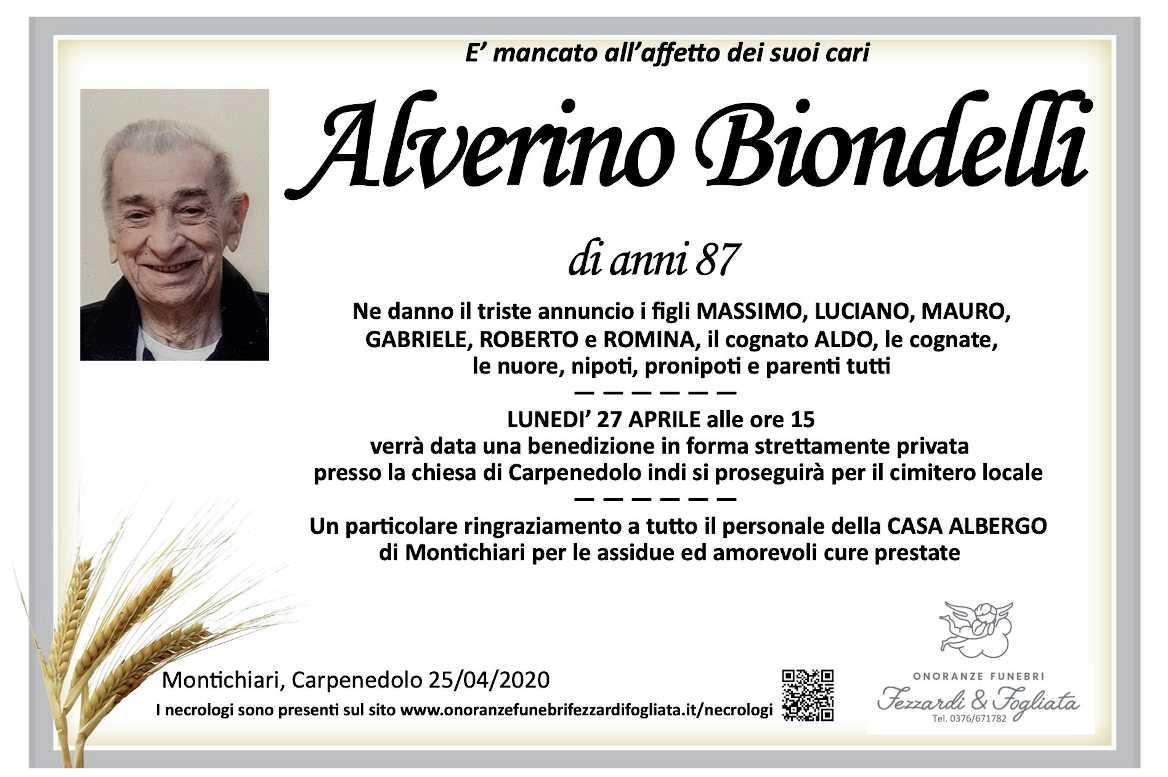 Necrologio Alverino Biondelli
