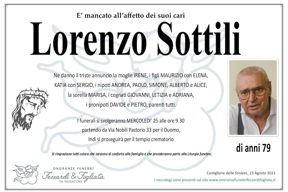 Necrologio Lorenzo Sottili