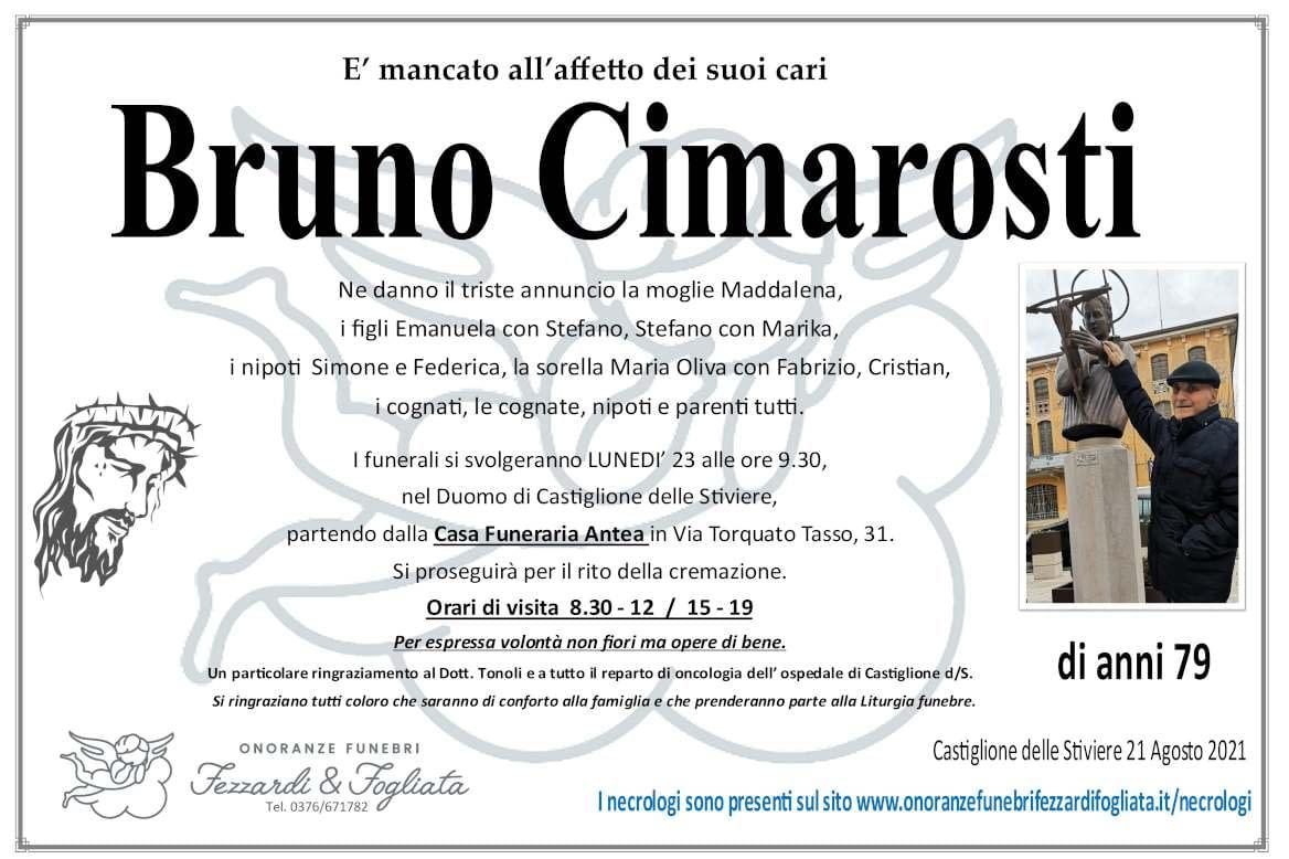 Necrologio Bruno Cimarosti