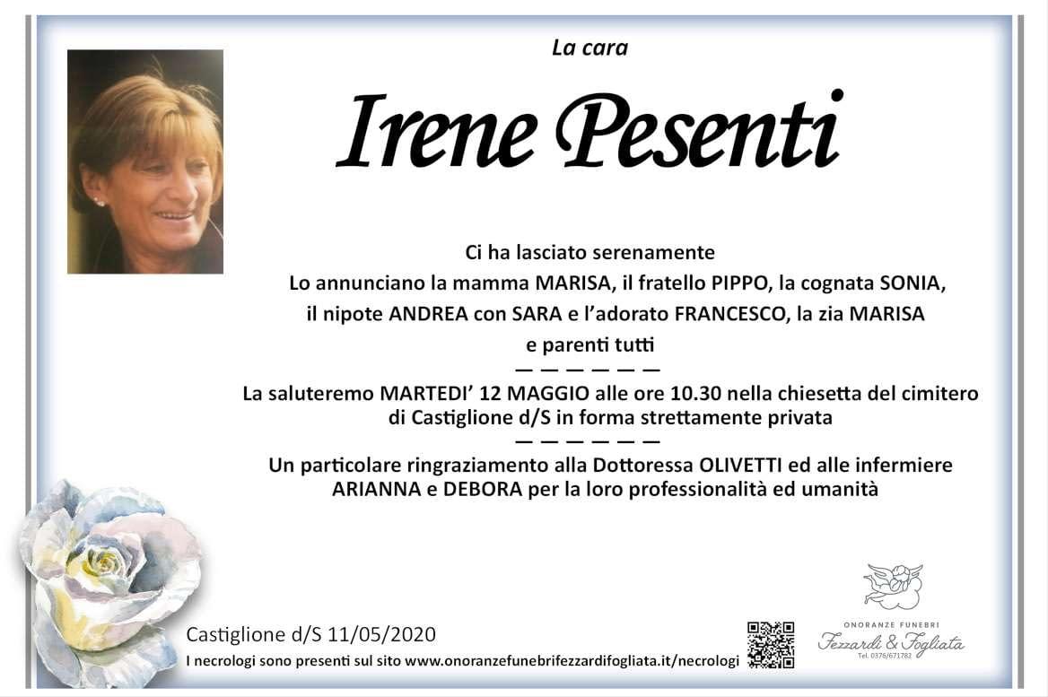 Necrologio Irene Pesenti