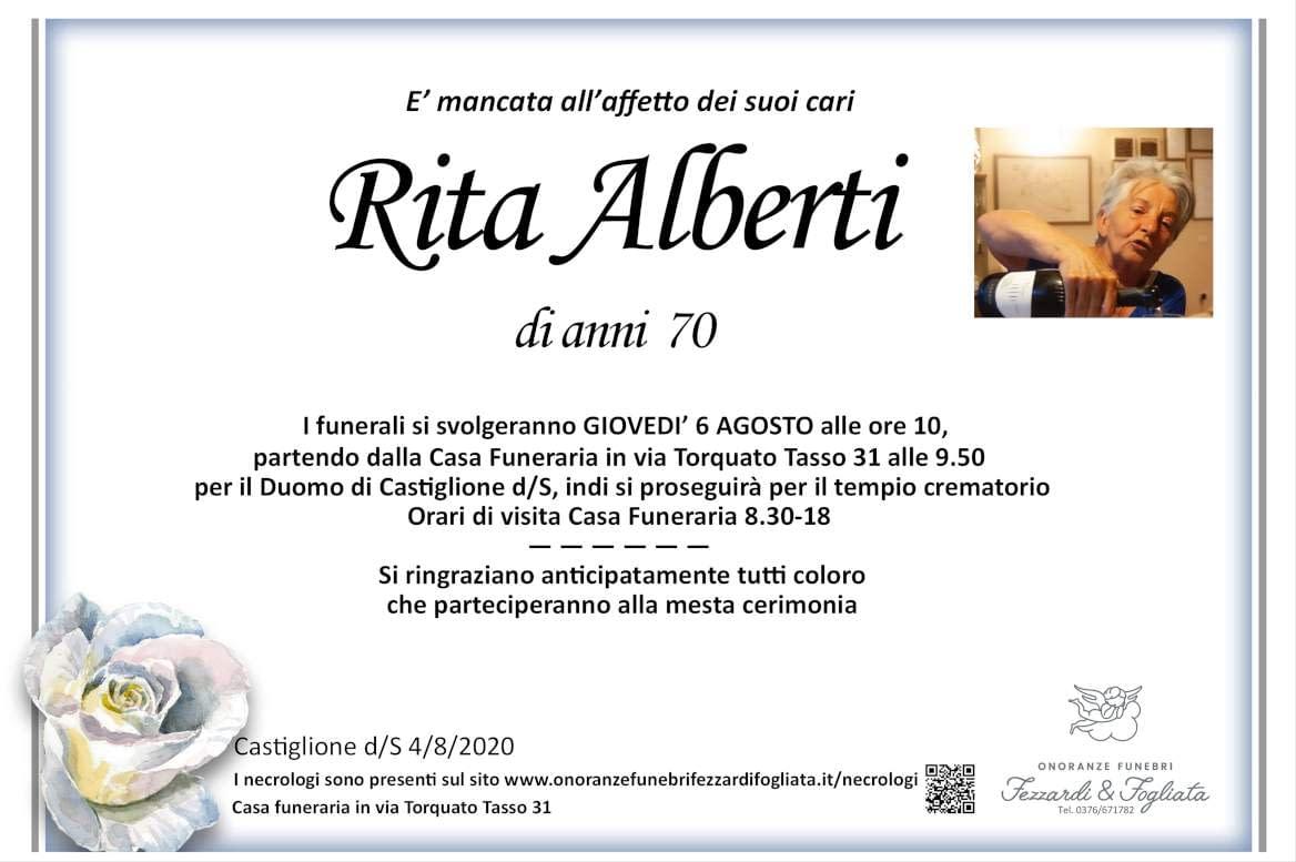 Necrologio Rita Alberti