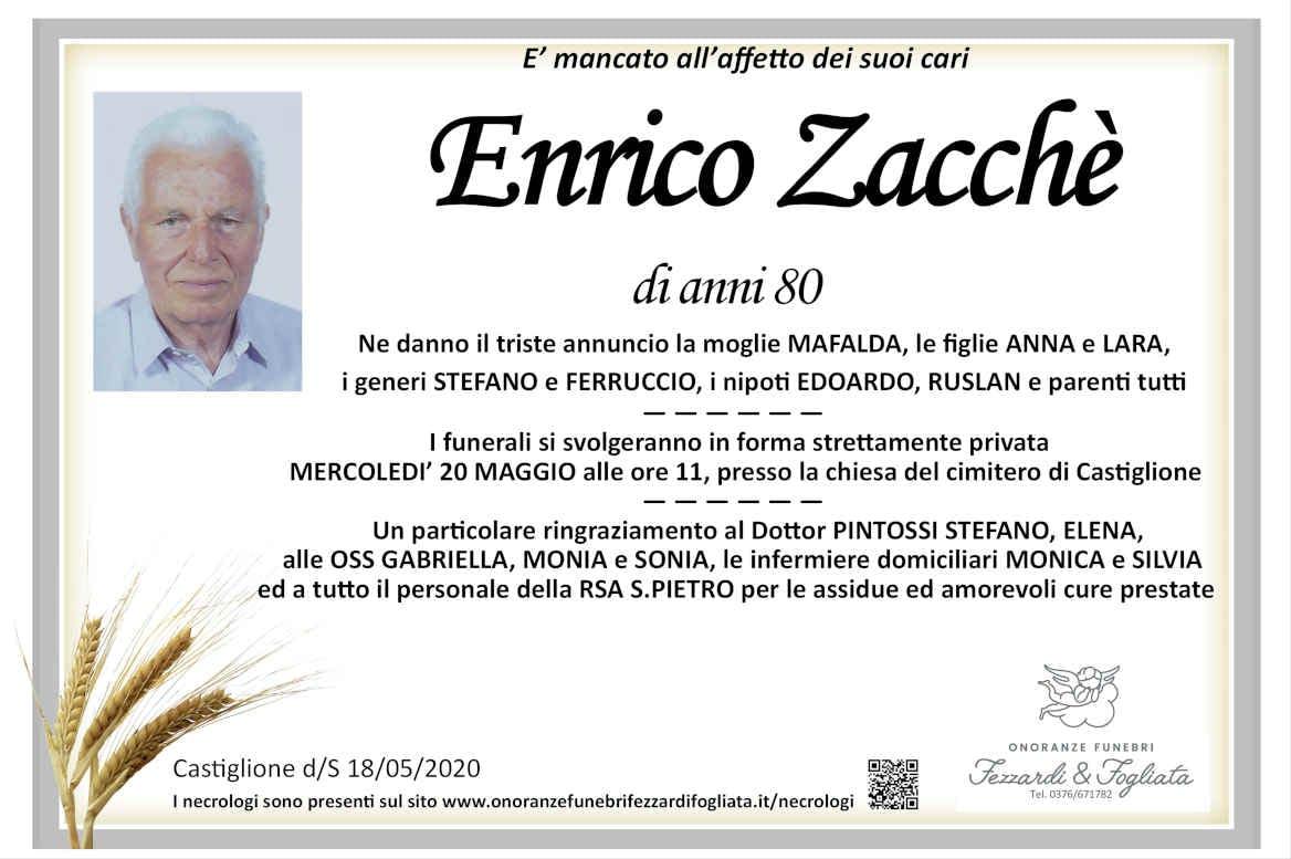 Necrologio Enrico Zacchè
