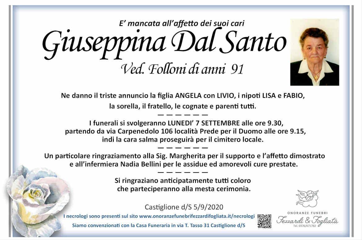 Necrologio Giuseppina Dal Santo