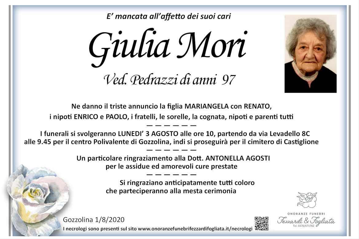 Necrologio Giulia Mori