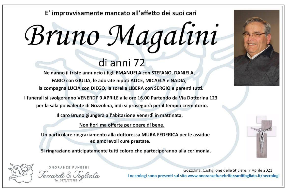 Necrologio Bruno Magalini