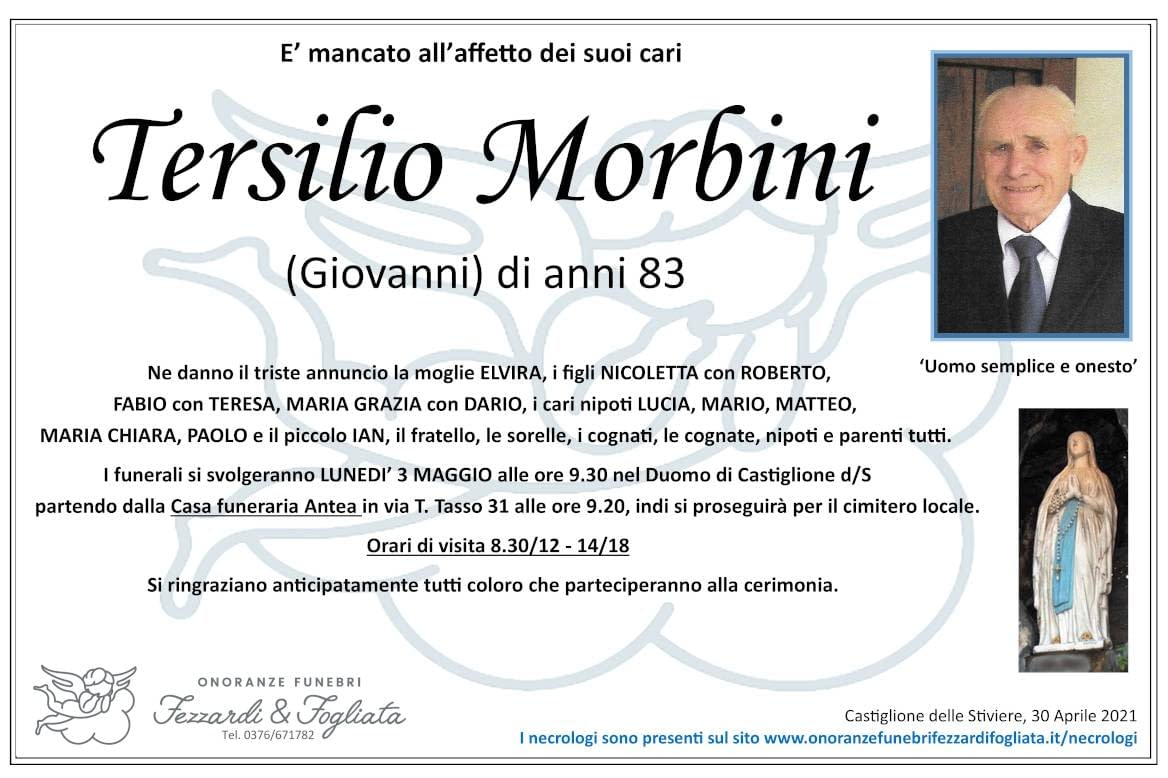 Necrologio Tersilio Morbini