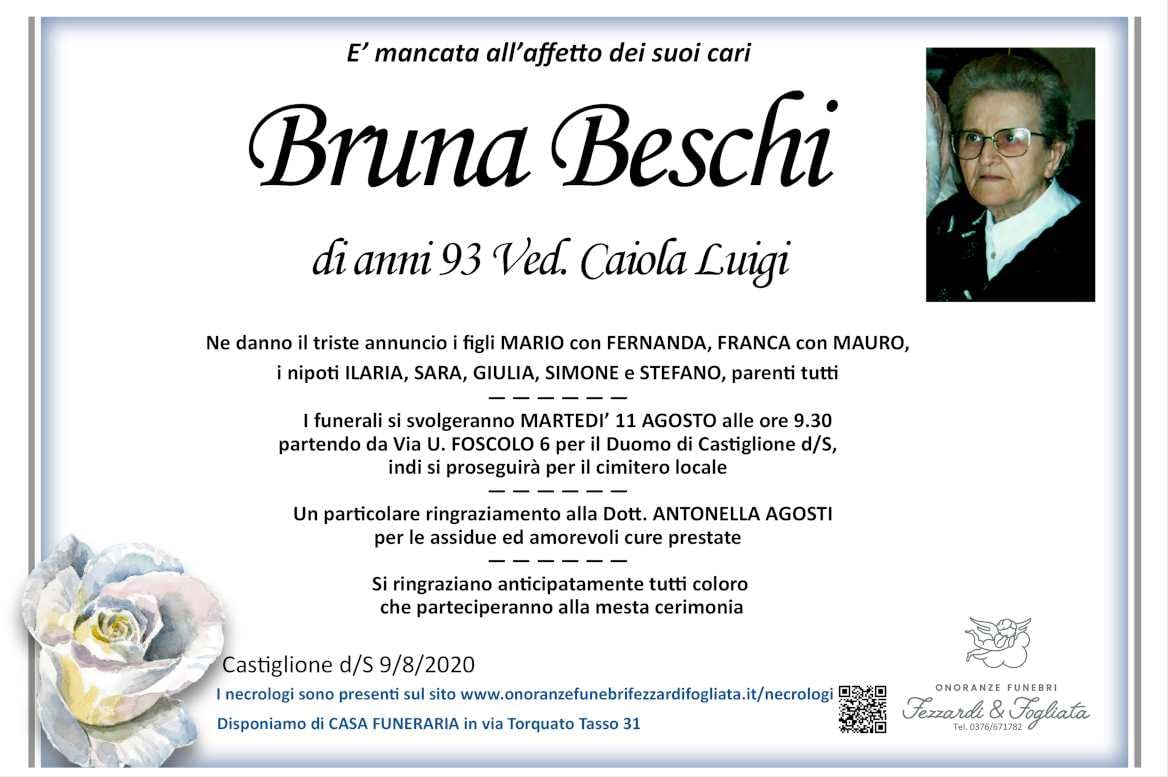 Necrologio Bruna Beschi