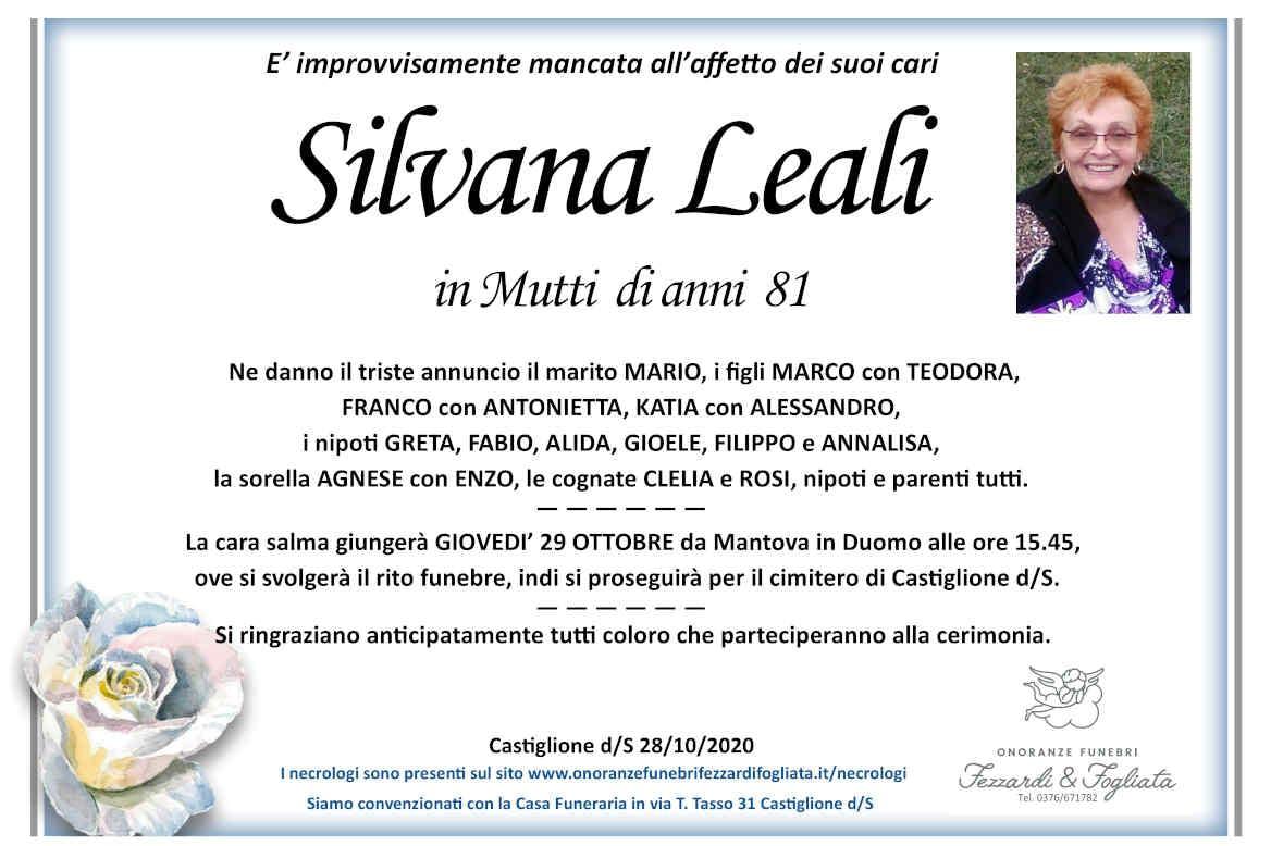 Necrologio Silvana Leali