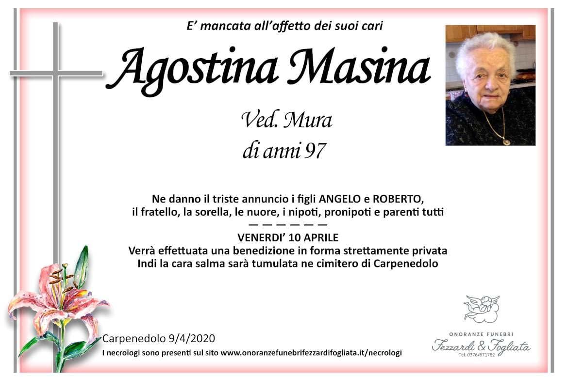 Necrologio Agostina Masina
