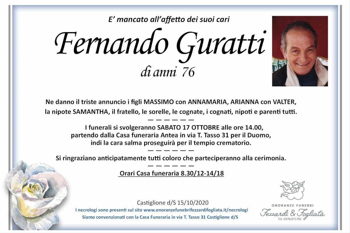 Necrologio Fernando Guratti