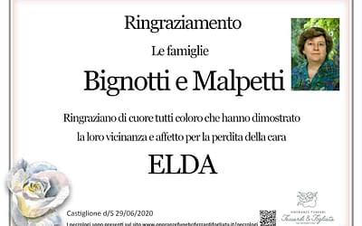 Elda Malpetti (Ringraziamento)