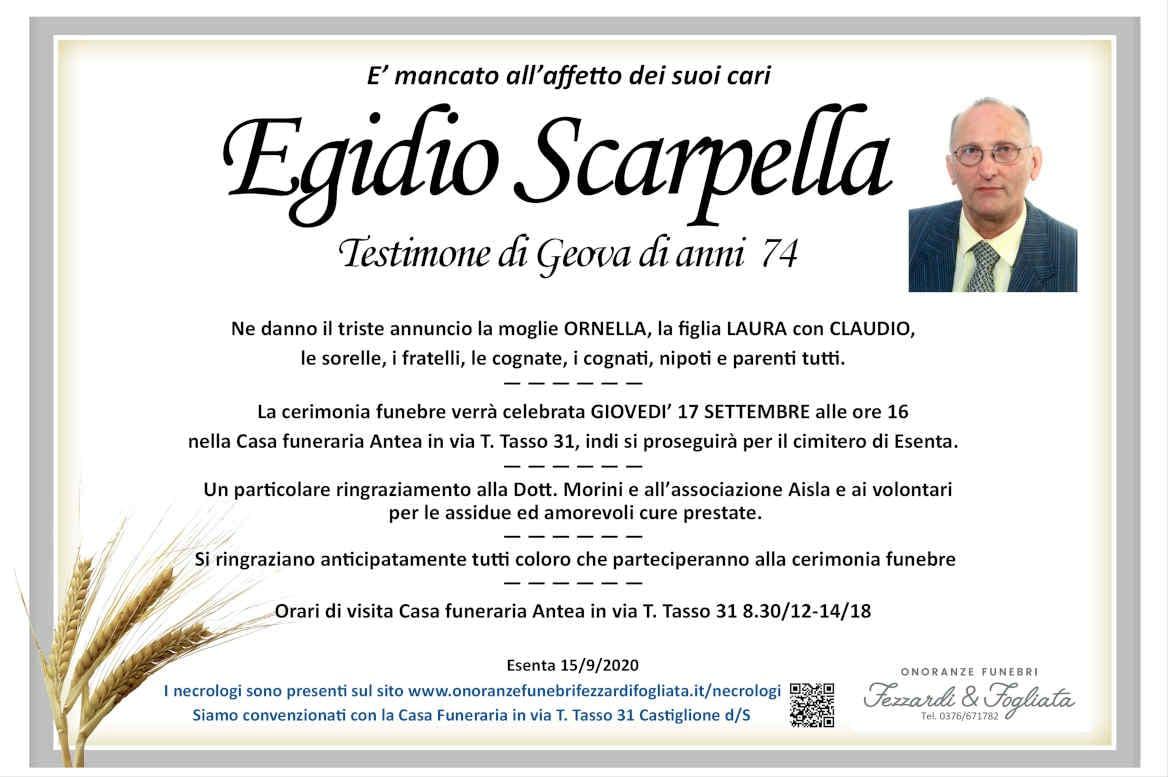 Necrologio Egidio Scarpella