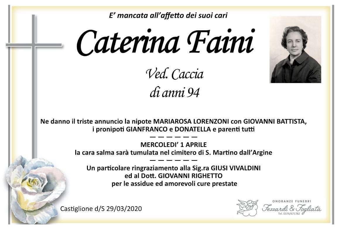 Necrologio Caterina Faini