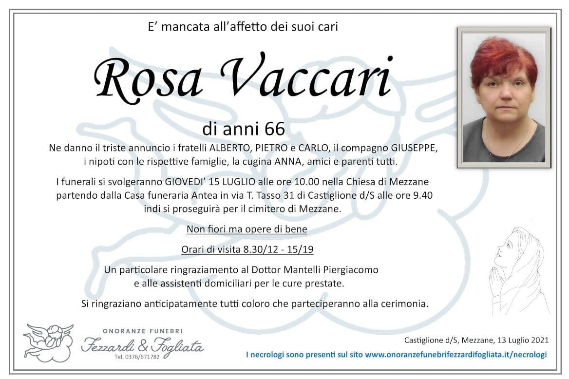 Necrologio Rosa Vaccari