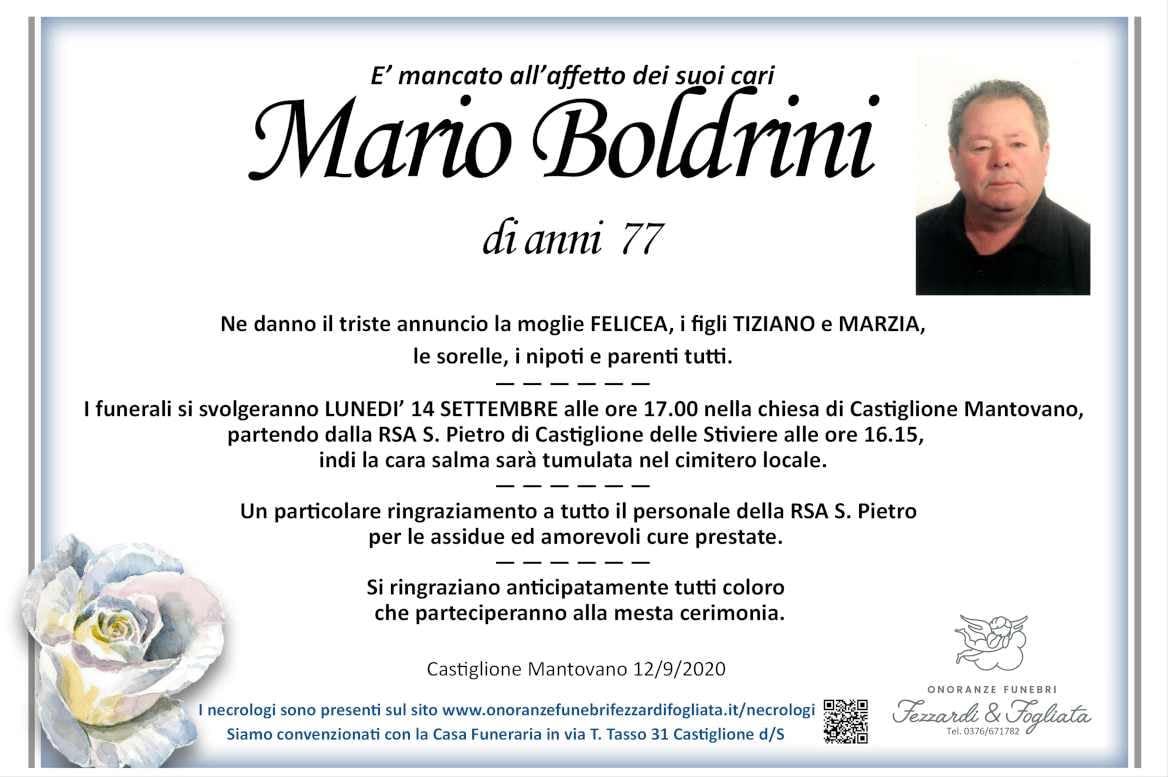 Necrologio Mario Boldrini