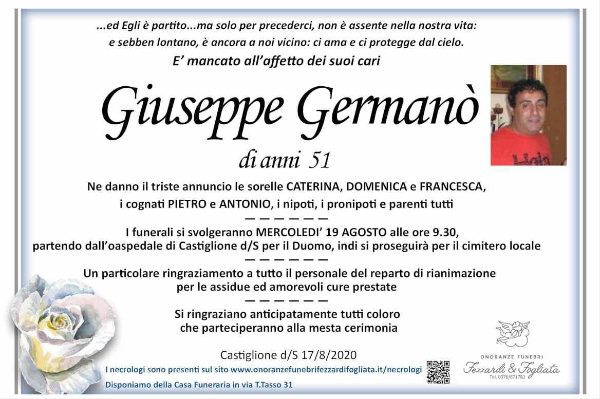 Necrologio Giuseppe Germanò