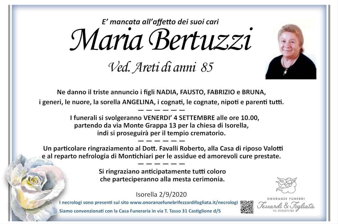 Necrologio Maria Bertuzzi