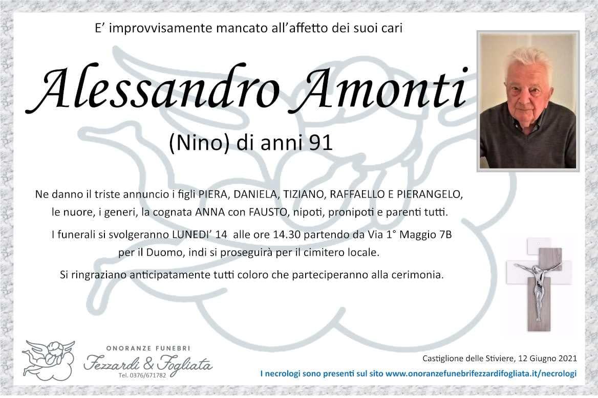Necrologio Alessandro Amonti