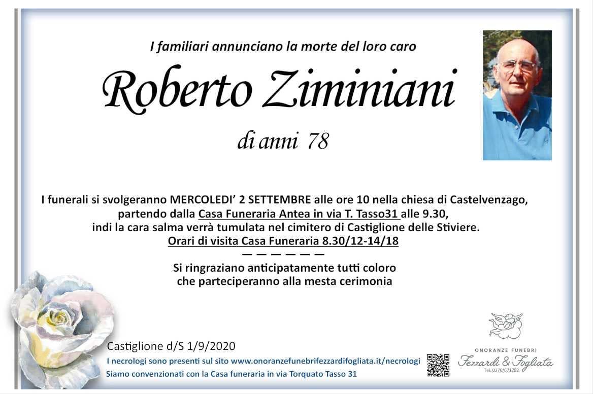 Necrologio Roberto Ziminiani