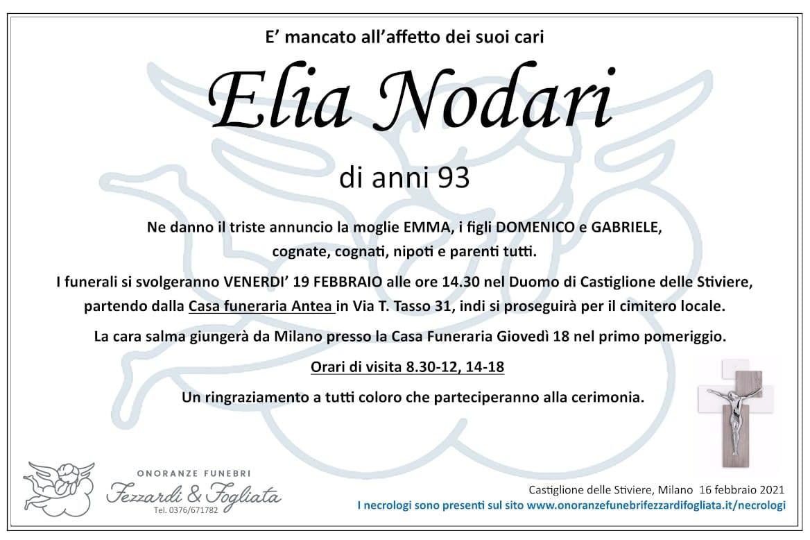 Necrologio Elia Nodari