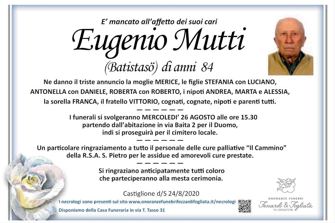 Necrologio Eugenio Mutti