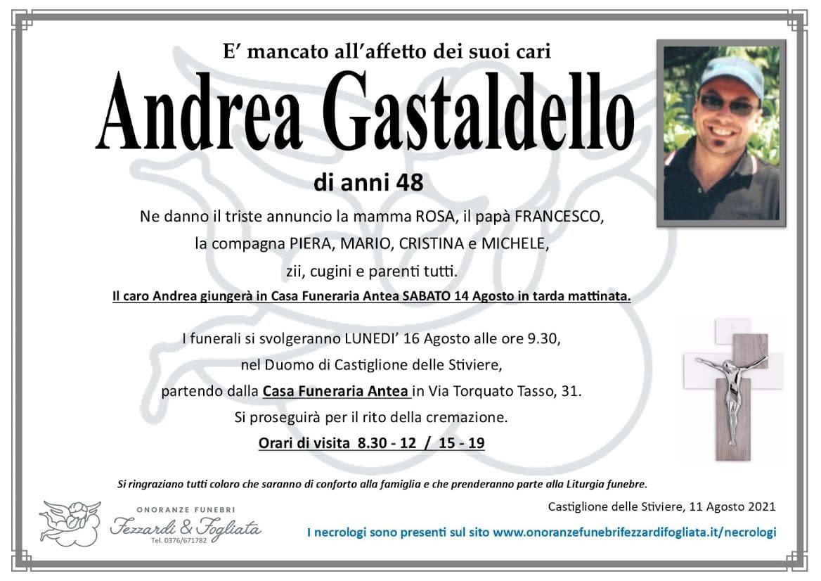Necrologio Andrea Gastaldello