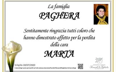 Marta Franzoni (Ringraziamento)