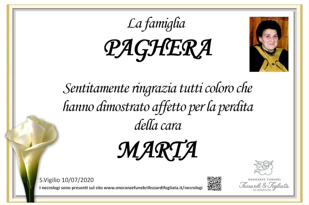 Necrologio Marta Franzoni (Ringraziamento)