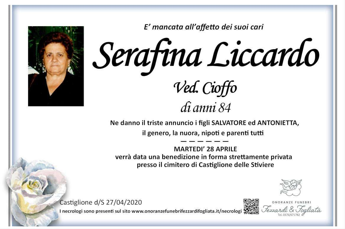 Necrologio Serafina Liccardo