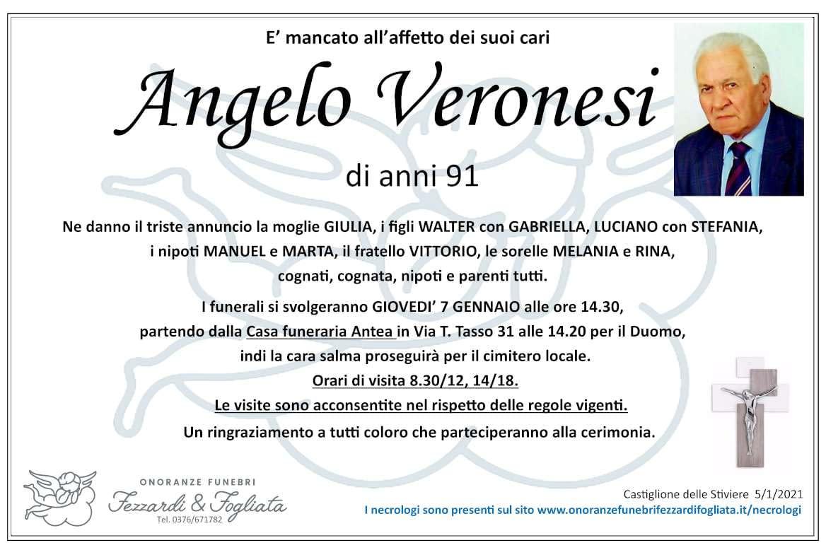 Necrologio Angelo Veronesi