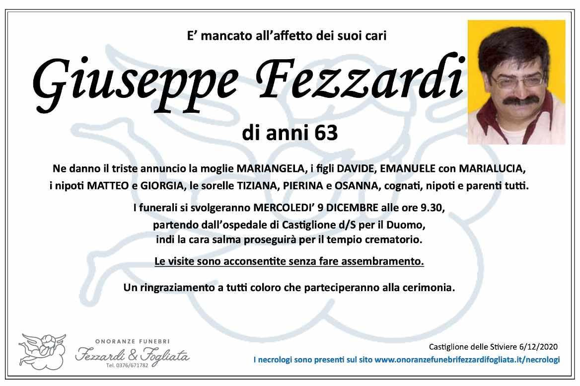 Necrologio Giuseppe Fezzardi